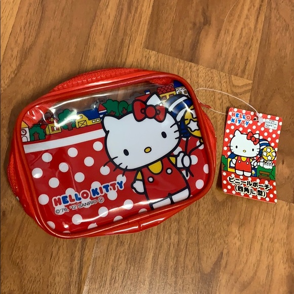 Hello Kitty Handbags - Brand New With Tags Hello Kitty Japan Pouch